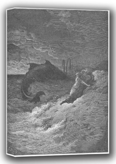 Dore, Gustave: Jonah Cast Forth by the Whale (Illustration from Dore's 'The Holy Bible'). Fine Art